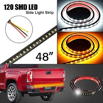 Amazon ambother 4849 truck led tailgate light bar strip side ambother 48quot49quot truck led tailgate light bar strip side bed light aloadofball Choice Image