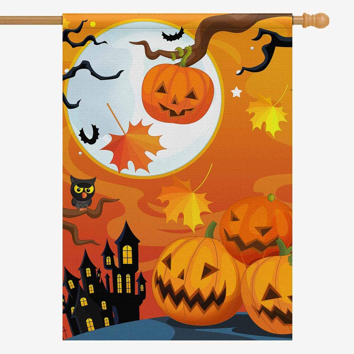 Halloween Pumpkin Garden Flag Banner Decorative Flags Outdoor Yard Lawn Decor