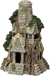 Blue Ribbon EE-5657 Cambodian Temple Ruins Exotic Environments Aquarium Ornament, Brown