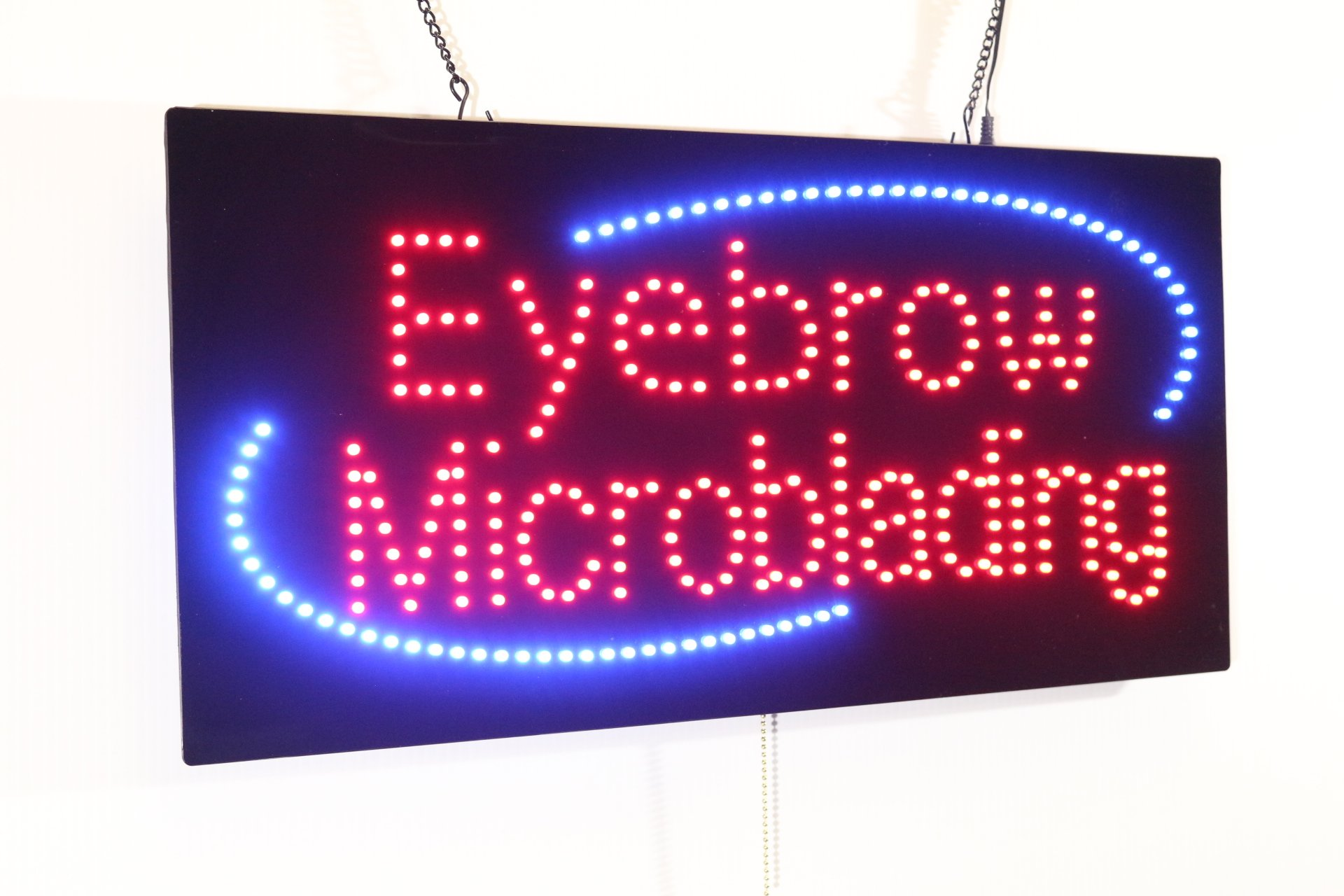 Eyebrow Microblading Sign, Super Bright LED Open Sign, Store Sign, Business Sign, Windows Sign, LED Neon Sign