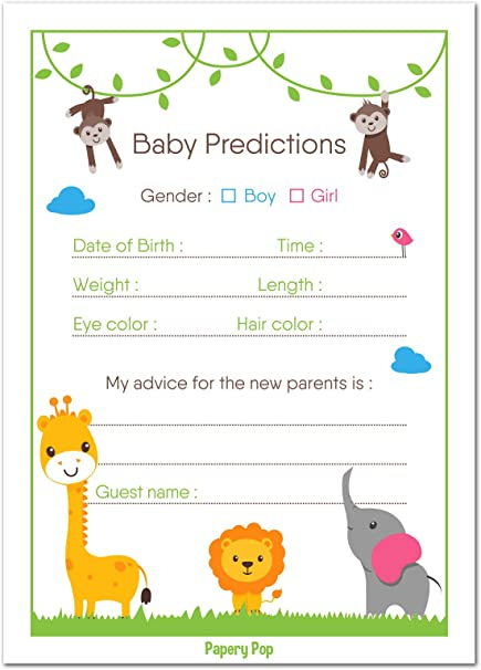 amazon com 30 baby shower prediction and advice cards boy or girl