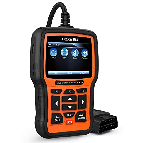 FOXWELL NT510 for BMW Automotive OBD2 Scanners Code Reader All System Car  Diagnostic Scan Tool with Battery Registration