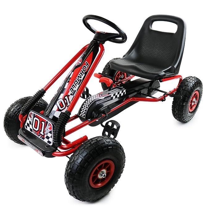 4 opinioni per Oypla Rosso Scherza Il Pedale Corsa Go-Kart Ride-On in Gomma Ruote