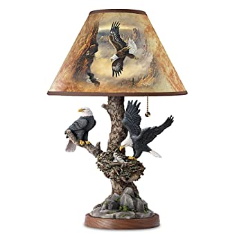 Superb Lamp: Treetop Majesty Bald Eagle Lamp By The Bradford Exchange