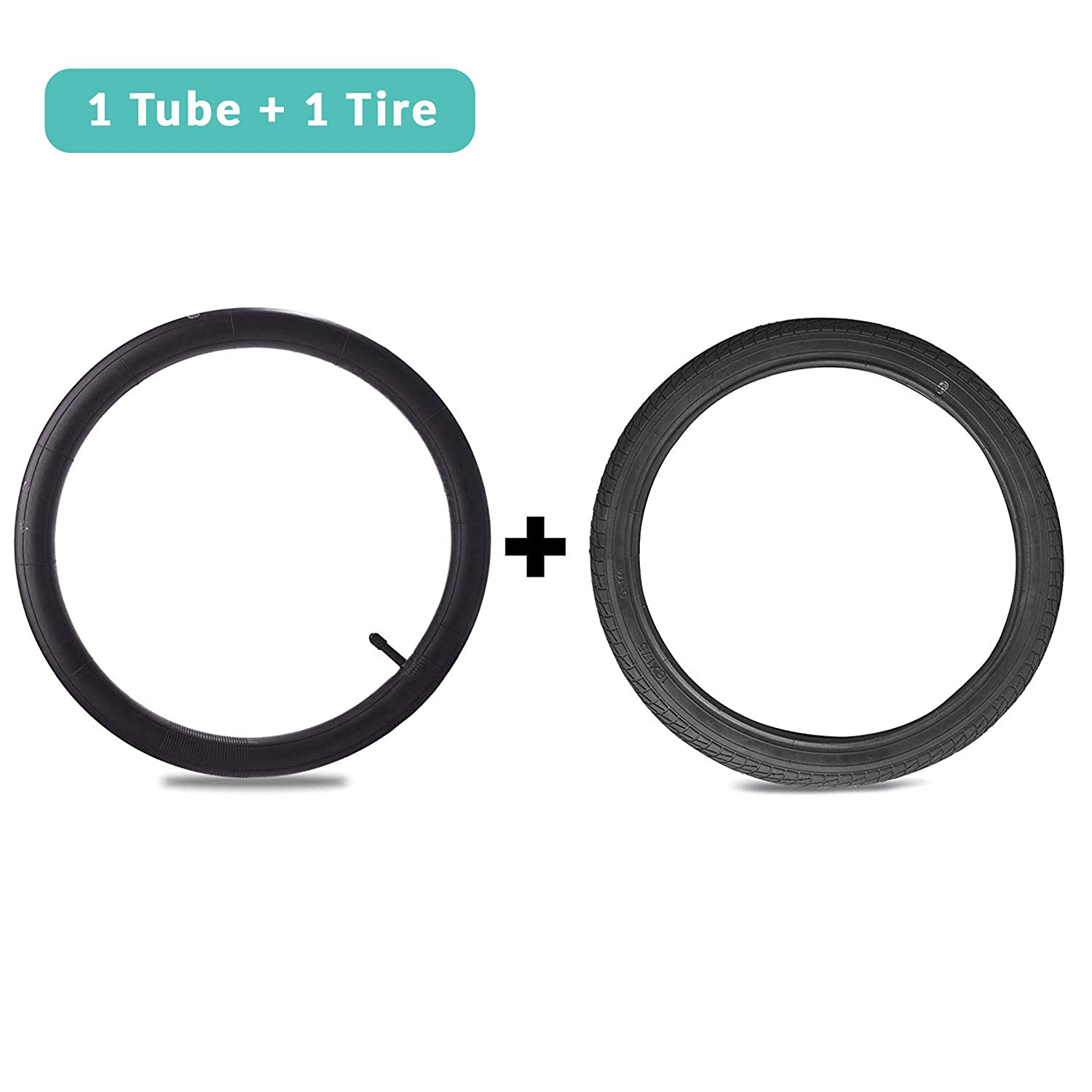 12 Front Wheel Replacement Tire and Tube for BoB Revolution SE//Pro//Flex Made from BPA//Latex Free Premium Quality Butyl Rubber