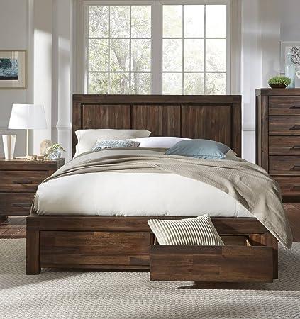 Amazon Com Modus Furniture 3f41d7 Meadow King Size Brick Brown