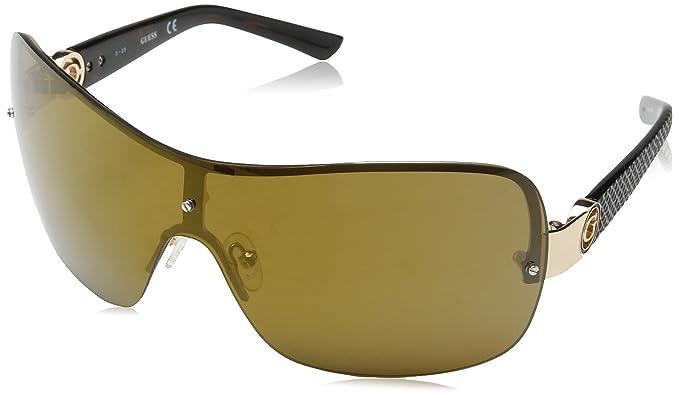 Guess Unisex-Erwachsene Sonnenbrille GF027432F0, Marrone/Giallo, 56