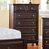 Elements Harland 6 Drawer Chest in Espresso