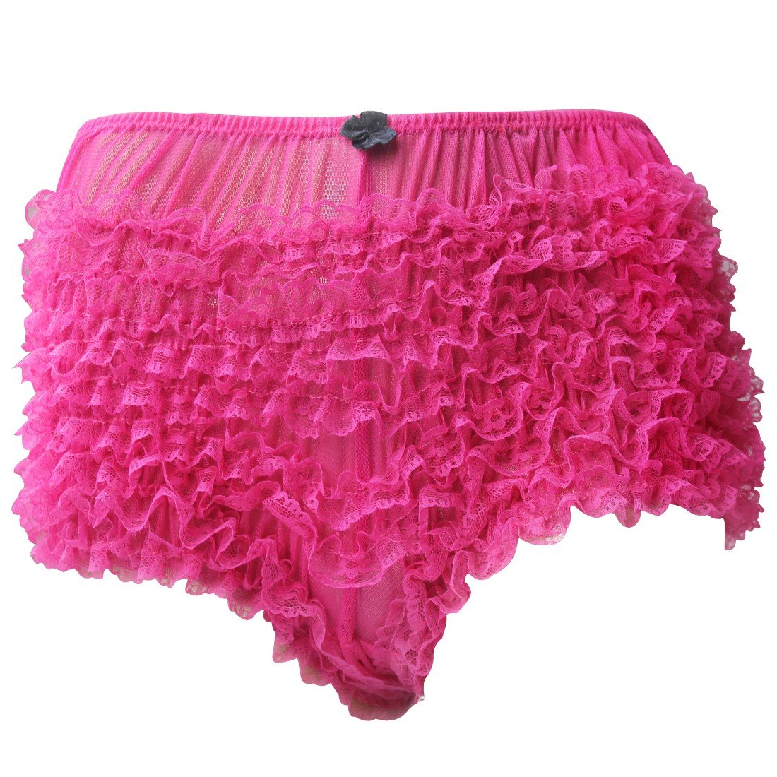 YOOJIA Womens Ruffled Frilly Lace Trim Mini Bowknot Boxer Briefs Underwear Bloomers Underpants Knickers Shorts