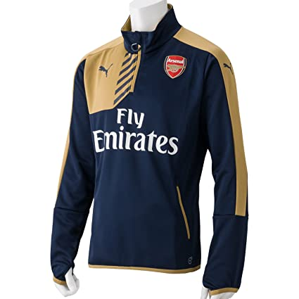 Puma AFC 1/4 TRAINING Sudadera Sweatshirt Futbol Azul Oro para Hombre Arsenal