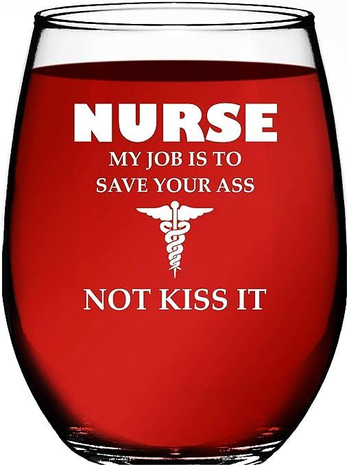 Amazon.com: Regalos para enfermera para mujeres My Job Is To ...