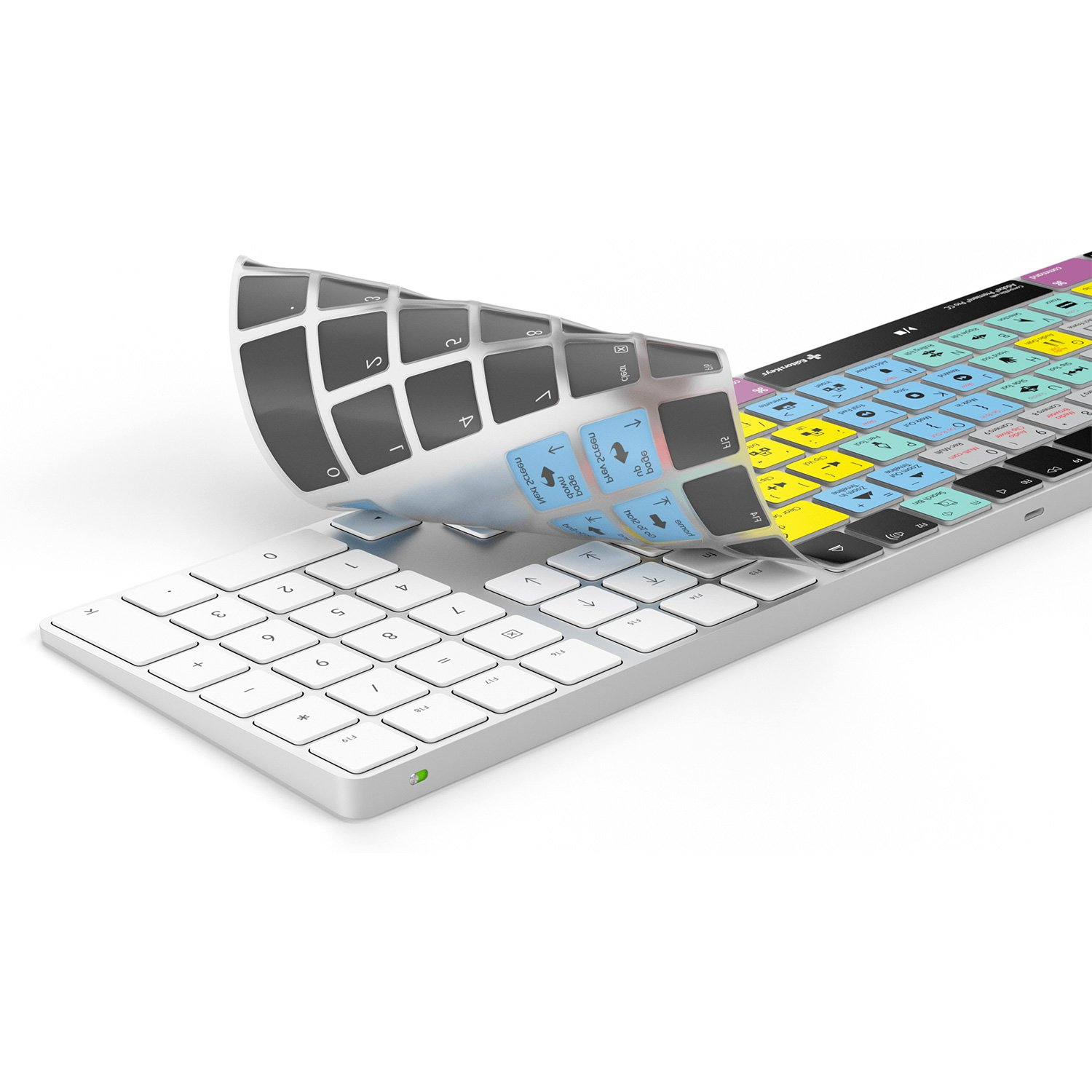 Amazon.com: Adobe Premiere Pro Keyboard Cover for Apple Magic Keyboard | Fits Wireless Magic Keyboard with Numeric Pad: Computers & Accessories