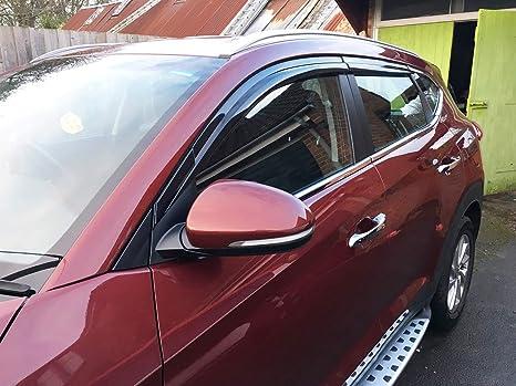 Autoclover Hyundai Tucson 2015 + Set de deflectores de Viento (4 Piezas) (Moldeado