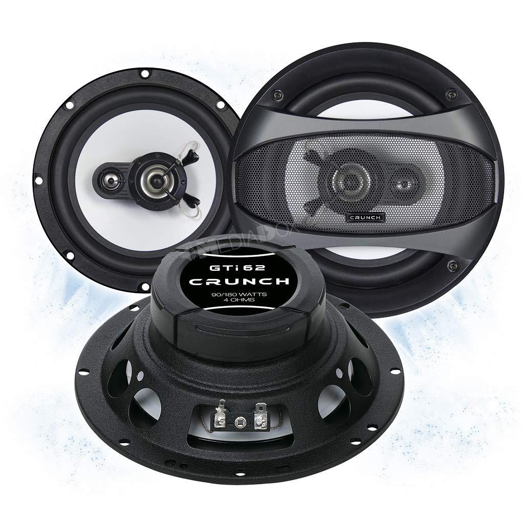 Crunch GTI62 Front//Heck 16,5cm//165mm 2-Wege Koax Auto Lautsprecher//Boxen//Speaker f/ür Toyota
