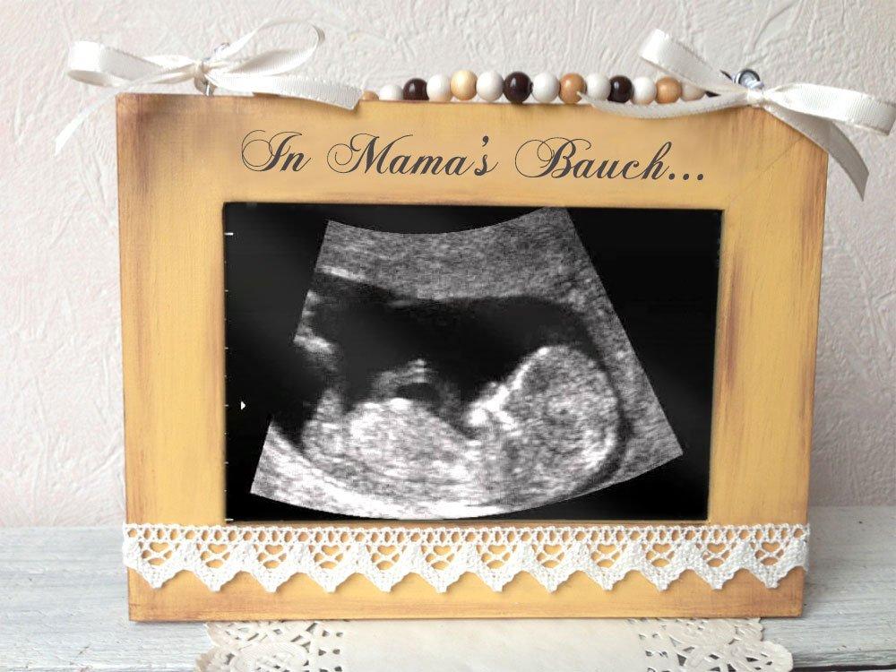 Bilderrahmen für Ultraschallbild Beige Vintage - Babygeschenk ...