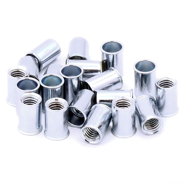 M6 (6mm) Low-Profile Blind Countersunk Rivet Nuts (Plain Body) - Steel (Pack of 20) Singularity Supplies Ltd