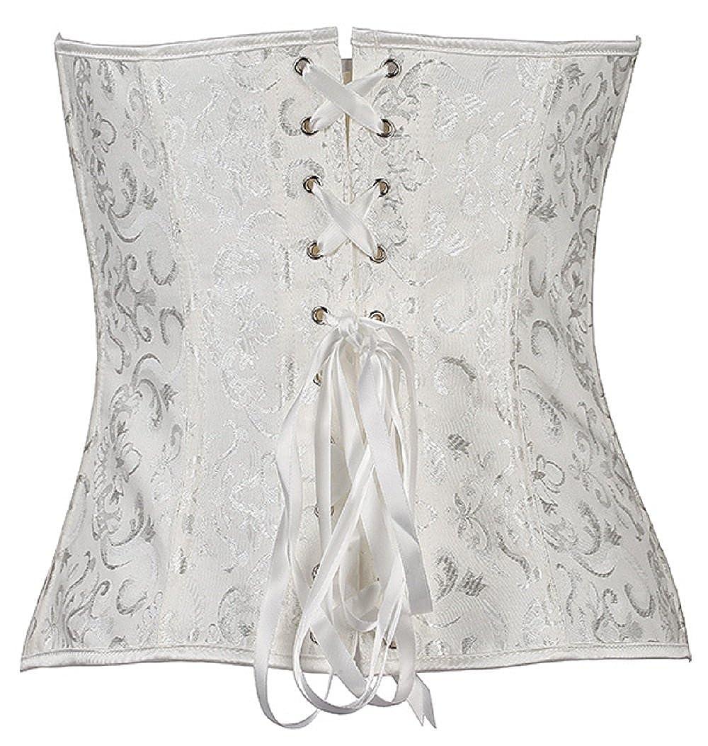 9ea14a0482 FADTOP Women s Wedding Waist Training Latex Cincher Body Shaper Corset at  Amazon Women s Clothing store