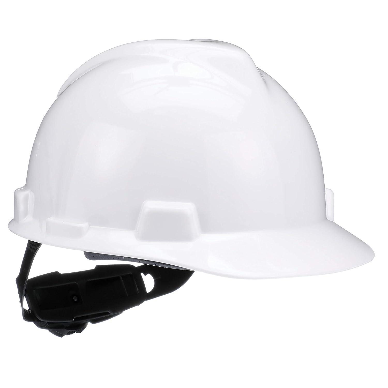 MSA 475358 V-Gard Cap and Hats, Polyethylene, 5.62' Height x 11' Length x 8.5' Width, Standard Size, White 5.62 Height x 11 Length x 8.5 Width