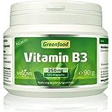 Vitamin B3 (Niacin), 250 mg, extra hochdosiert, 120 Vegi-Kapseln, vegan – wichtig für die Serotonin-Produktion (Glückshormon) und die Durchblutung. OHNE künstliche Zusätze. Ohne Gentechnik. Vegan.