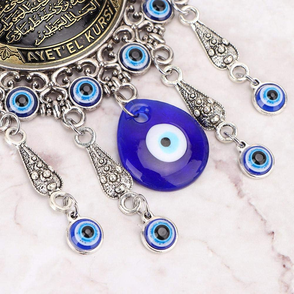 Muslim/Amulet Blessing Good Luck Wall Hanging Pendant for Home Office Door Wall Decoration Great Gift Turkish Blue Evil Eye