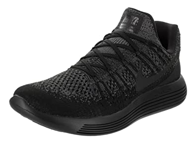 7ba861384f65 Nike Mens Lunarepic Low Flyknit 2 Running Shoe Black Black-Dark Grey-Racer