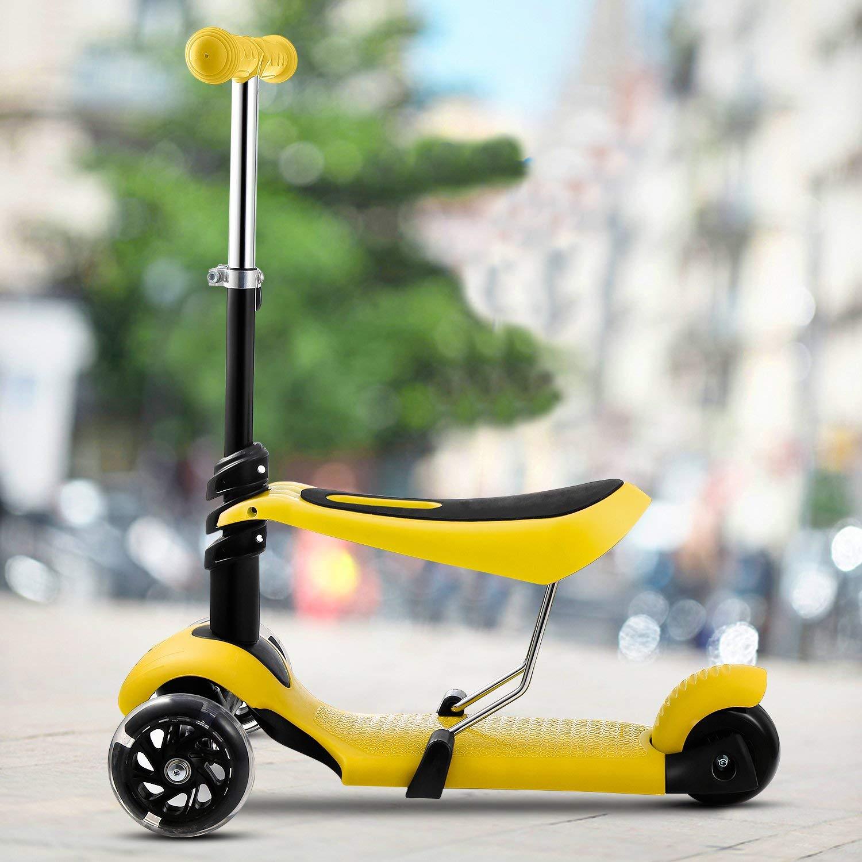 Amazon.com: drawaoy niños Kick Scooter con plegable y ...