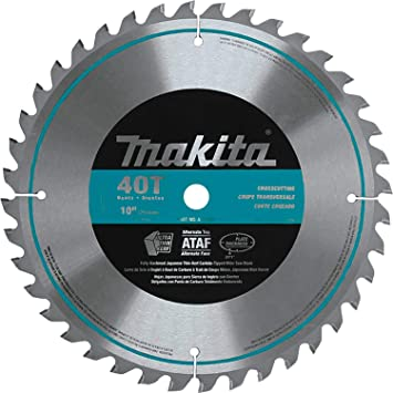 Makita A 93669 10 Inch 40 Tooth Micro Polished Mitersaw Blade Silver Miter Saw Blades Amazon Com