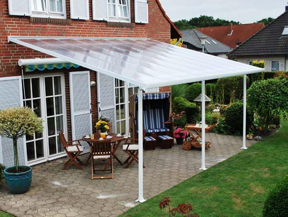 Techo terraza avanzada blanco, 4 x 10 m, color blanco, 1030 x-PEGANE-387 x 260 cm: Amazon.es: Hogar