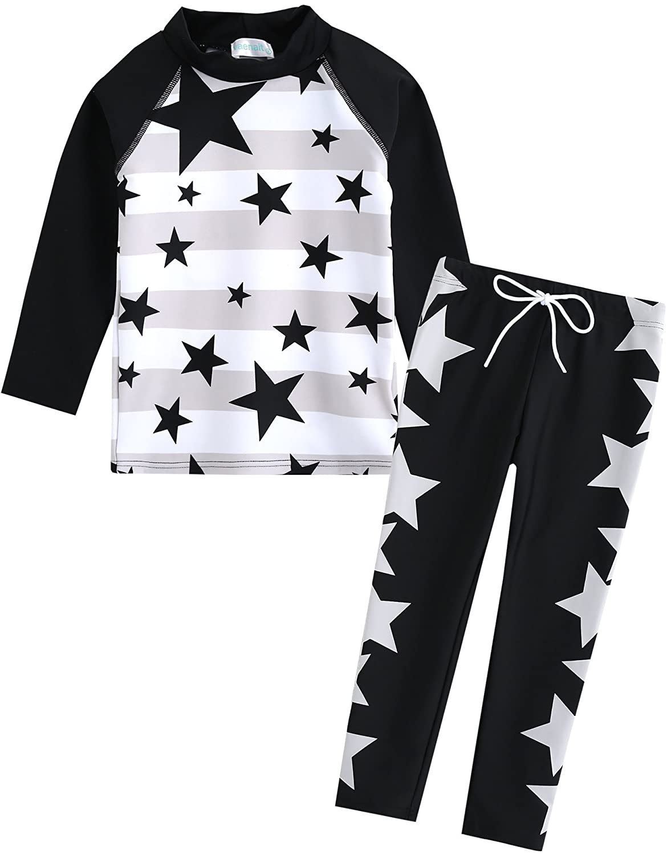 Vaenait baby 2T-7T Kids Boys UPF 50+ Rashguard Swimsuit Set SBSW_028