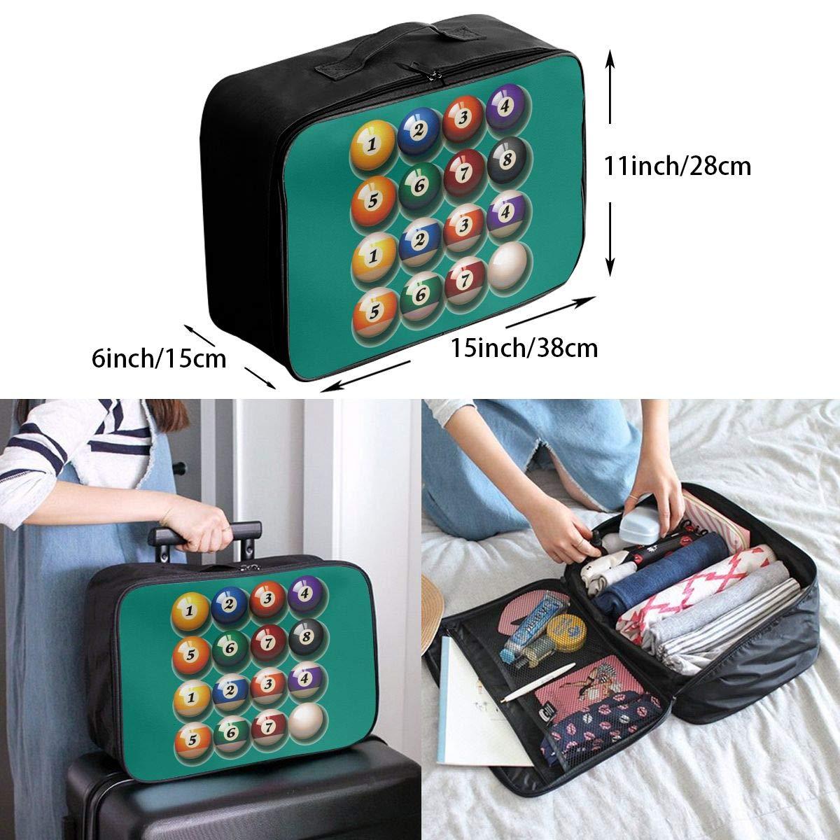 Travel Luggage Duffle Bag Lightweight Portable Handbag Billiards Large Capacity Waterproof Foldable Storage Tote