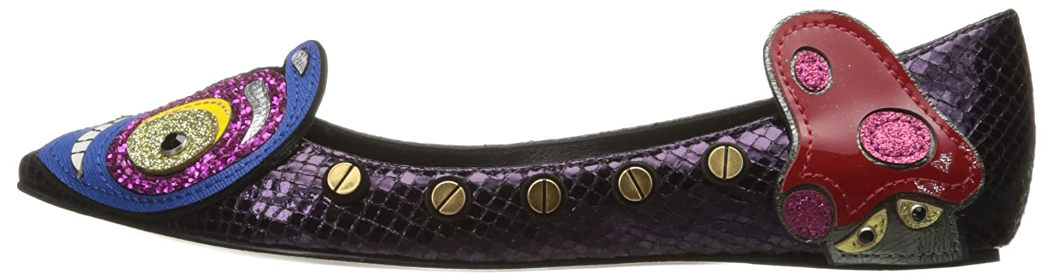 Marc Jacobs Women's Heart Ballerina Ballet Flat B01MY9LM47 37 M EU / 7 B(M) US|Dark Purple/Multi