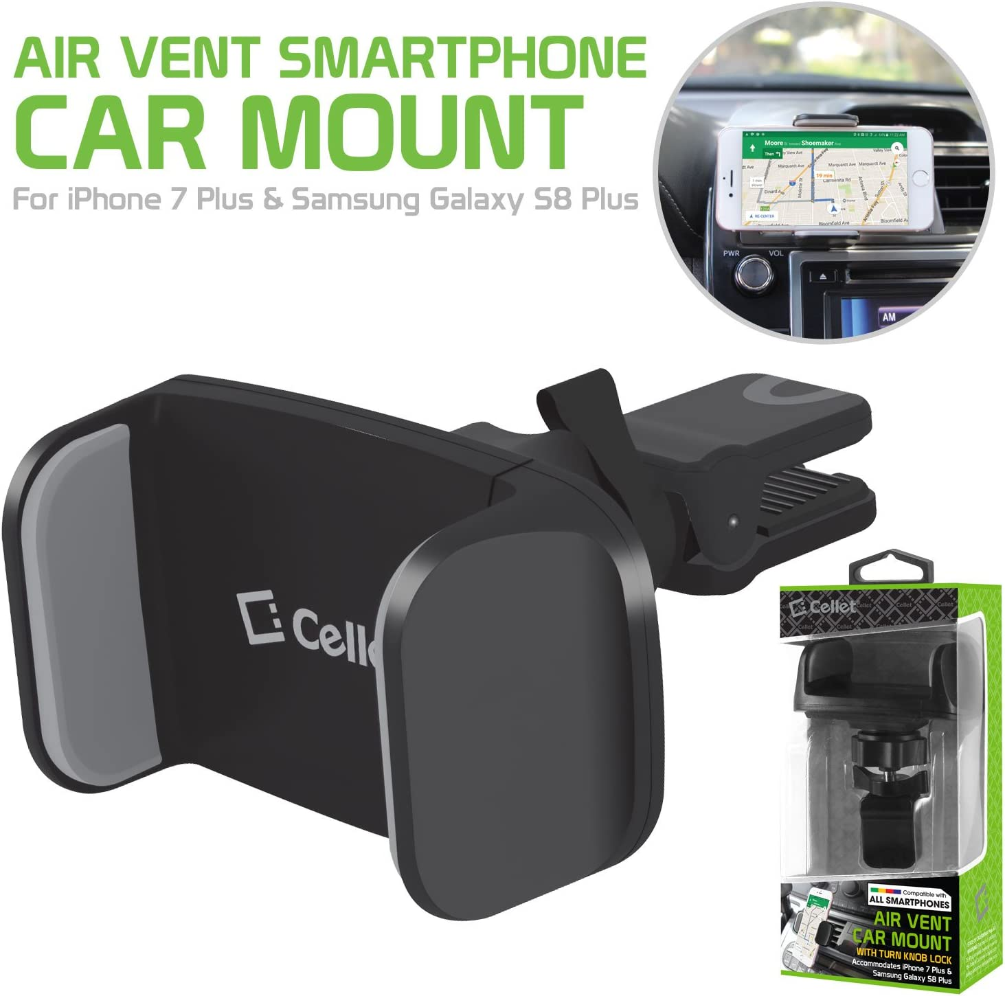 Cellet Premium Air Vent Holder Compatible with Samsung J2 Shine