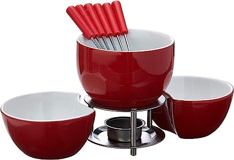 Conjunto P/ Fondue 10pcs - Vrm Brinox Vermelho: Amazon.com.br: Cozinha