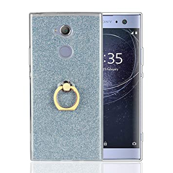 Funda Sony Xperia XA2 Carcasa Purpurina, Lyzwn Fundas ultra fina, suave gel de silicona