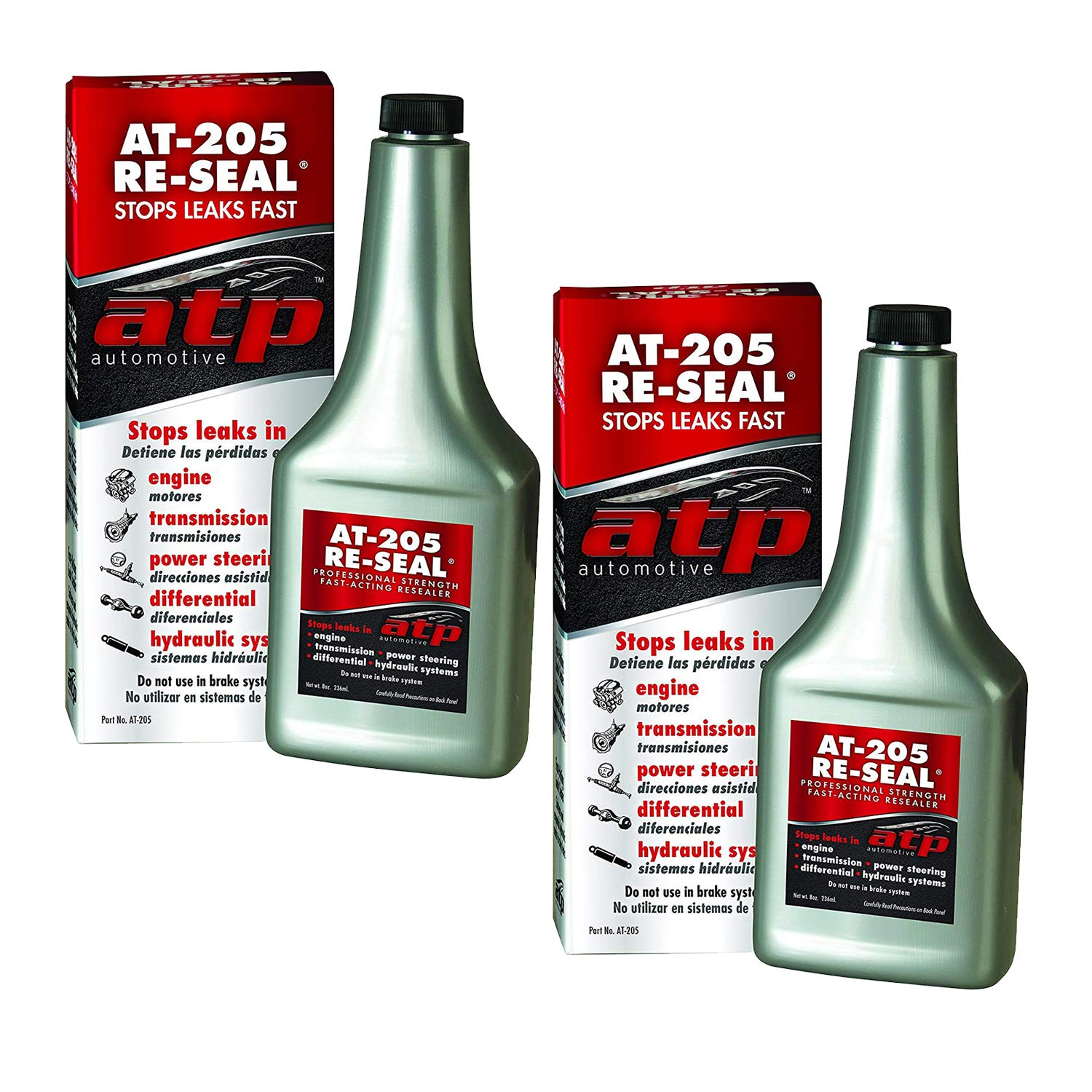 ATP Automotive AT-205 Re-Seal Stops Leaks, 8 Ounce Bottle (2 Pack)
