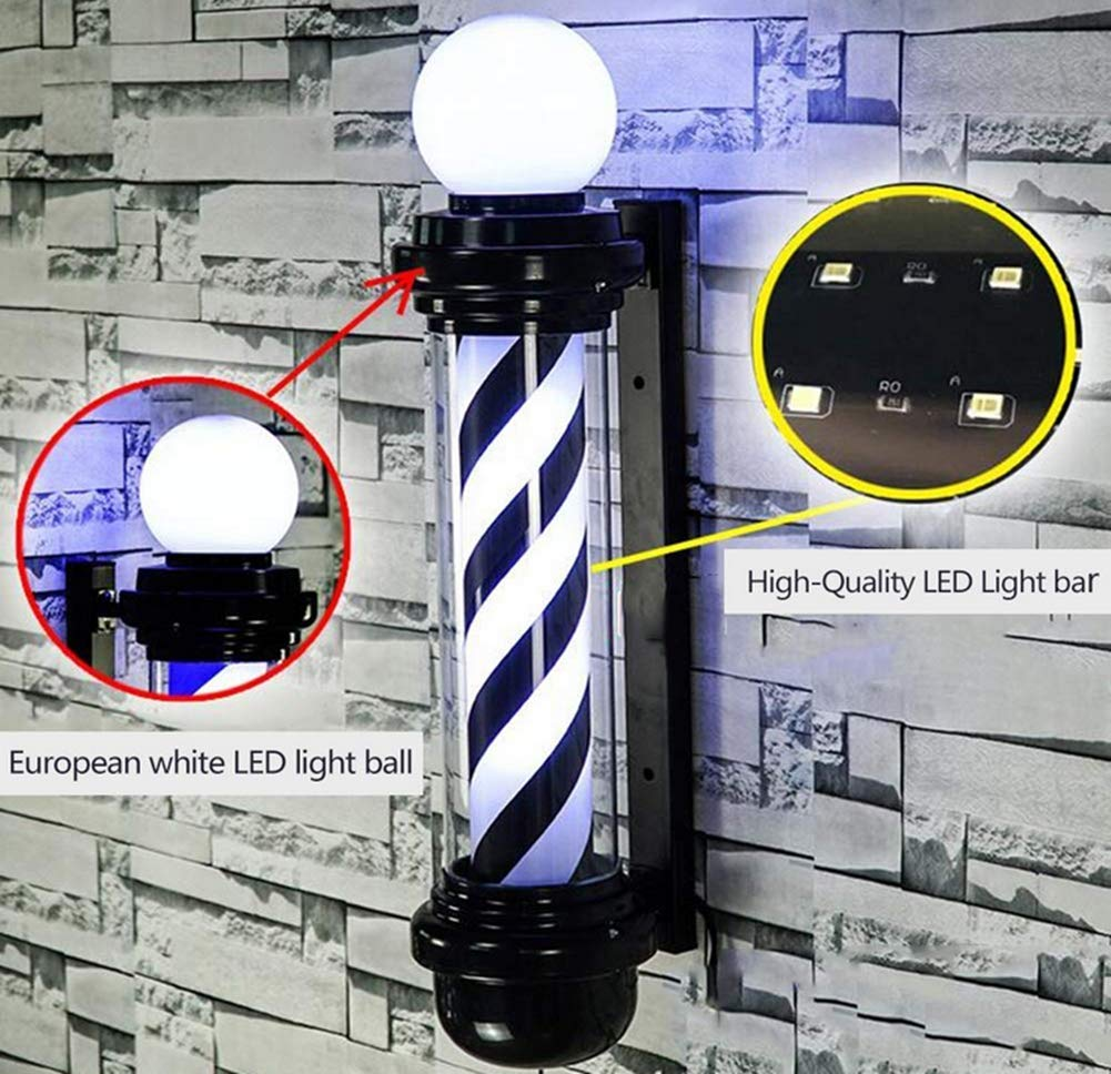 Amazon.com: Classic Barber Shop Rotating LED Stripes Pole ...