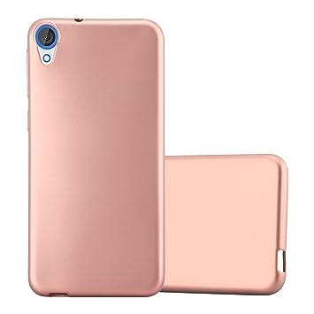 Cadorabo Funda para HTC Desire 820 en Metallic Oro Rosa – Cubierta Proteccíon de Silicona TPU Delgada e Flexible con Antichoque – Gel Case Cover ...