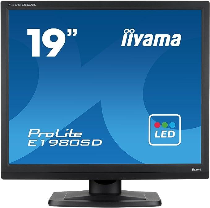 Iiyama Prolite E1980sd B1 48cm 19 Led Monitor Sxga Vga Dvi Schwarz