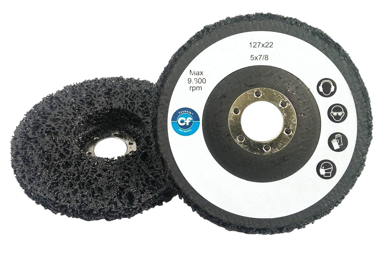 mola abrasiva grossolana in tessuto non tessuto. 1 x disco di pulizia 125 x 22 mm