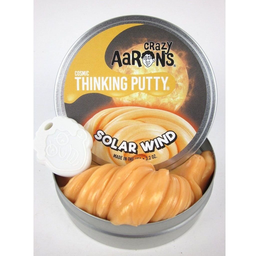 Crazy Aaron's Thinking Putty Solar Winds Cosmic Glow 4 Tin Crazy Aarons Putty SN020