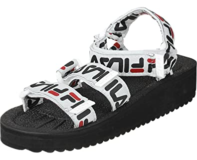 32f85a7cd3e4 Fila Sandals - Tomaia Logo Wmn Black Black Red  Amazon.co.uk  Shoes   Bags