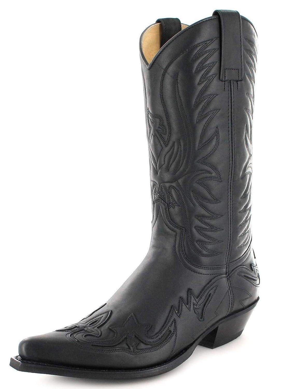 Fashion Stiefel Unisex Cowboy Stiefel BU1005 Schwarz Westernstiefel Cowboystiefel