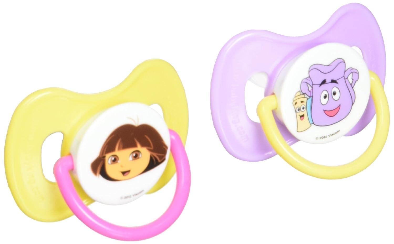 Amazon.com: Nickelodeon Dora The Explorer chupetes, 2 ...