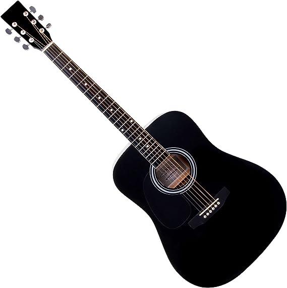 Classic Cantabile WS-10BK-LH guitarra acustica (tipo oeste) negra ...