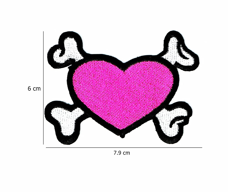 Tatuaje corazón Cruz huesos 002: Amazon.es: Juguetes y juegos