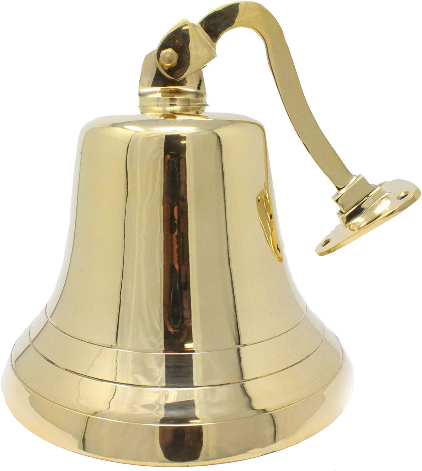 6 Small Ship Bell Wall Mount Office Large Bells Brass Navy Metal Nautical Decor Outdoor Hanging Victory Well Pack Box