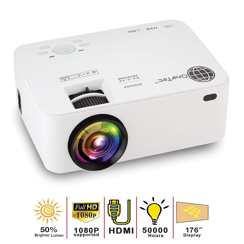 MacStein ホームシアタープロジェクター - 1080P対応 | 1800+ルーメン | 176インチ LCDムービーディスプレイ | ミニ&ポータブルHDビデオプロジェクター | HDMI付属 | iPhoneとノートパソコンに対応 B07G2RQTG5