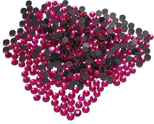 Fuchsia Pink Perlin 5mm SS20 Glitzersteine Rhinestone Selbstklebend Glass Strass Perlen 495 14400stk Hotfix Strasssteine zum Aufb/ügeln AAA Qualit/ät