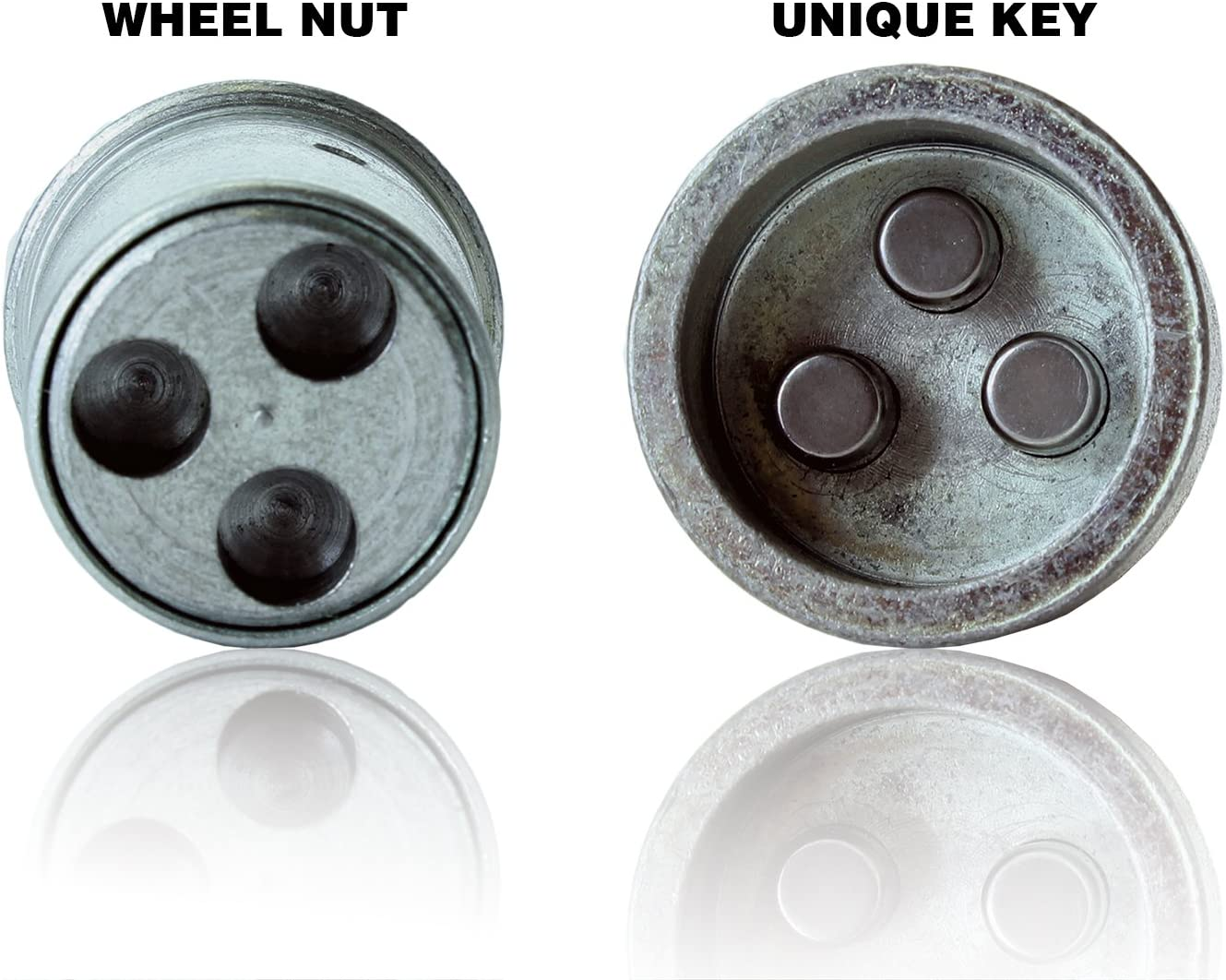 Butzi 12x1.5 Chrome Anti Theft Locking Wheel Bolt Nuts /& 2 Keys for Kia Sportage