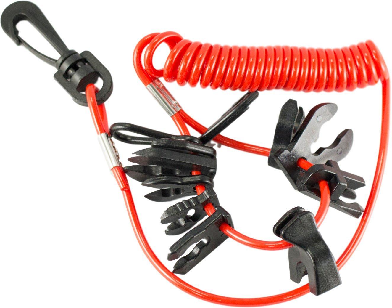 """DTLGear Universal OutBoard Kill Switch Keys - 11 keys & lanyard - 60"""" long"""